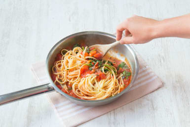 Add your pasta to your sauce
