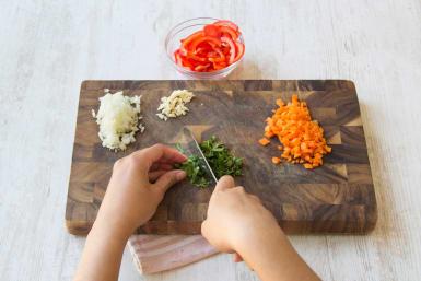 Prepare veggies