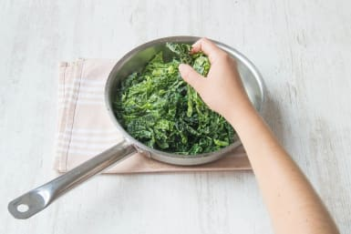 Add kale to the pan