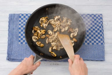 Fry your mushrooms
