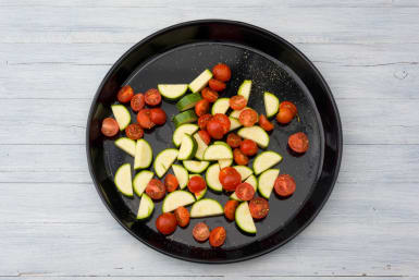 Roast your courgette and tomato