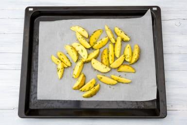 Roast your potato wedges