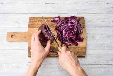 Slice your cabbage