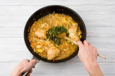 Add the tarragon to the pan