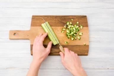 Chop the cucumber