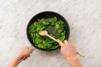 Sauté the spinach