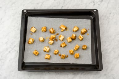 Put your tofu on a baking tray
