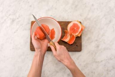 Segment the grapefruit