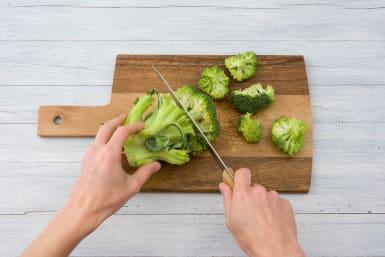 Cut your broccoli into florets