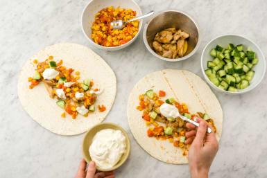 Assemble tacos