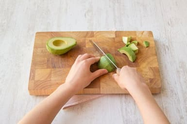 Make the avocado salsa