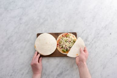 Assemble the quesadillas