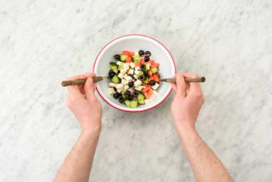 Combine the salad ingredients