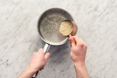 Cook the Israeli couscous