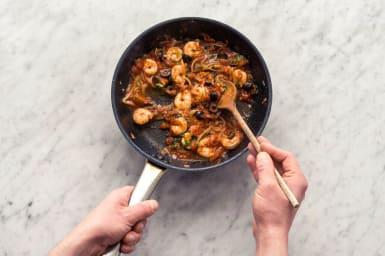 Add the shrimp