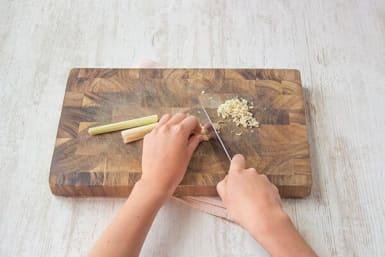 Prep the lemongrass