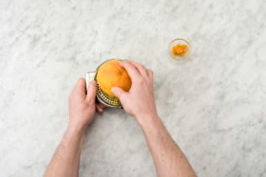 Zest and juice the orange