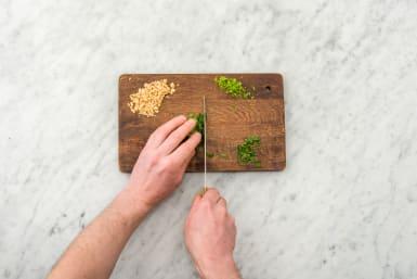 Chop the coriander