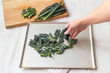 Make the kale chips
