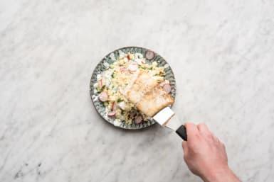 Serveer de maaltijd, eet smakelijk!