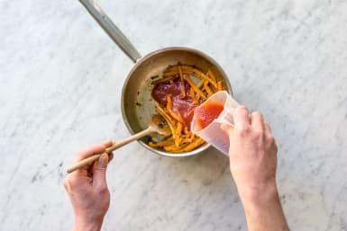 Add the tomato passata