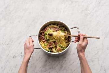 Stir through the ingredients