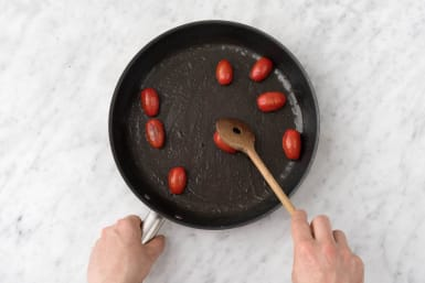 Cook the tomatoes