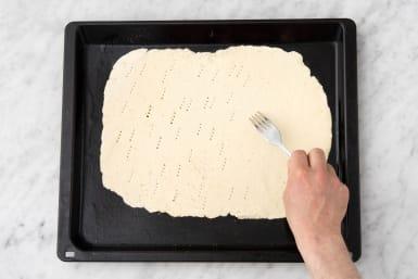 Par-bake the dough