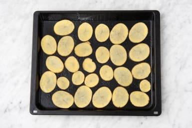 Make the potato chips