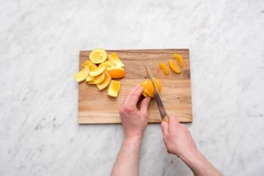 Cut up the orange