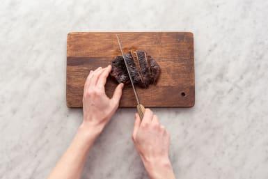 Slice the pork