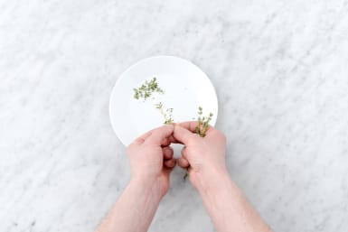 Remove the thyme leaves