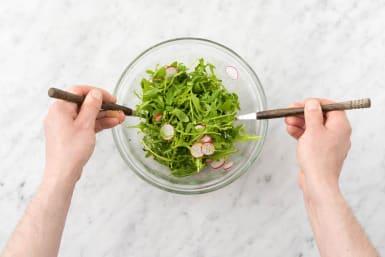 Dress the salad
