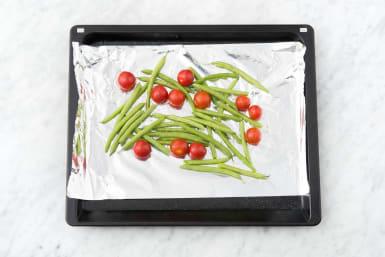 Broil the veggies