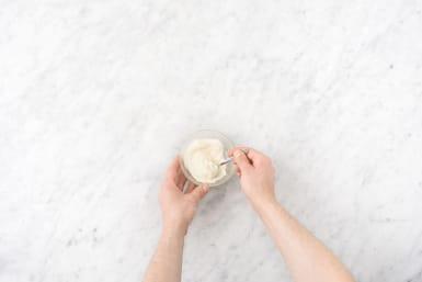 Make the garlic aioli