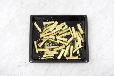 Make the zucchini fries