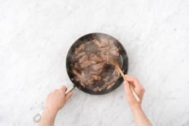 Sear the sirloin tips