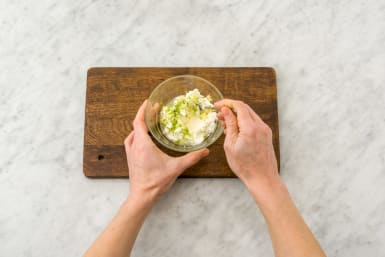 Make the garlic-lime crema