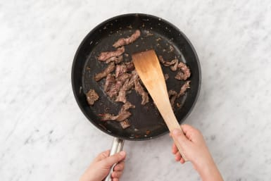 Cook the beef