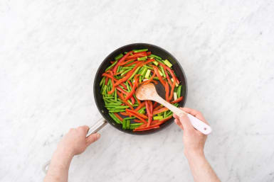 Sauté the veggies