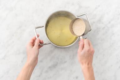 Preheat Oven and Cook Quinoa
