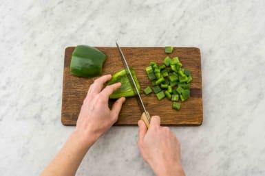 Groenten snijden
