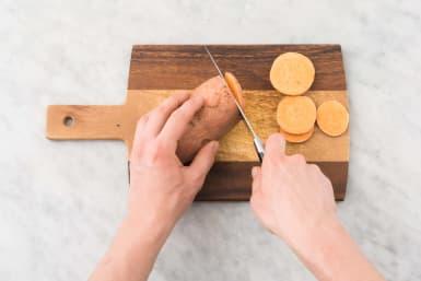 Préparer les patates douces