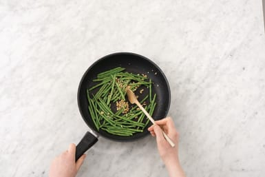 Cook the ginger greens