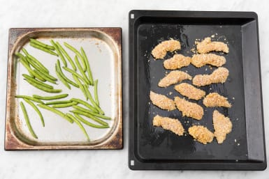Bake Green Beans and Chicken