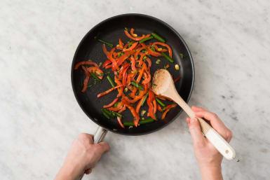 Mix Sauce and Cook Veggies