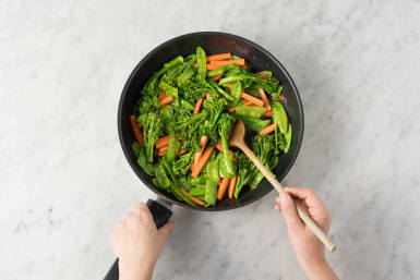 Gemüse anbraten