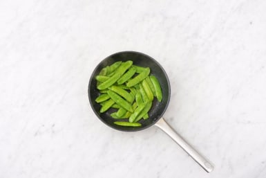 Cook Snow Peas and Glaze Chicken