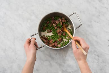 Cook Pancetta and Peas