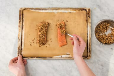 Bake the salmon